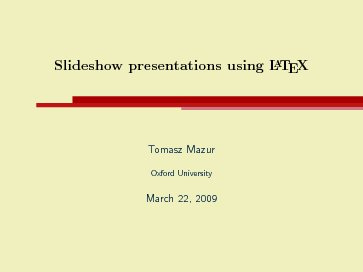 concurrency research group resources, Presentation templates
