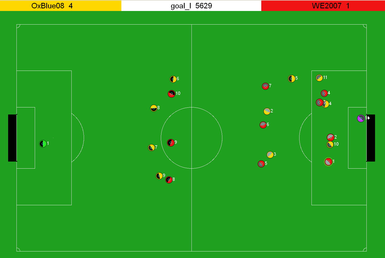 Screenshot of the 2D simulator