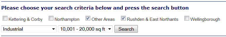 Search form for underwoods.co.uk
