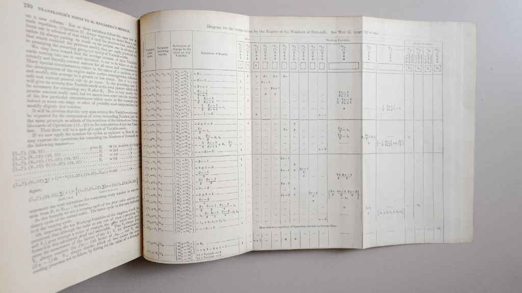 Sketch of the Analytical Engine